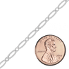 Bulk / Spooled Alternating Oval Cable Chain in Sterling Silver (2.8 mm)