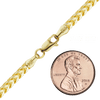 Finished Round Franco Foxtail Chain in Yellow Gold (1.90 mm - 3.60 mm)