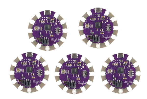LilyPad Arduino USB - The silver dollar sized Arduino designed for e-textile and wearable projects!