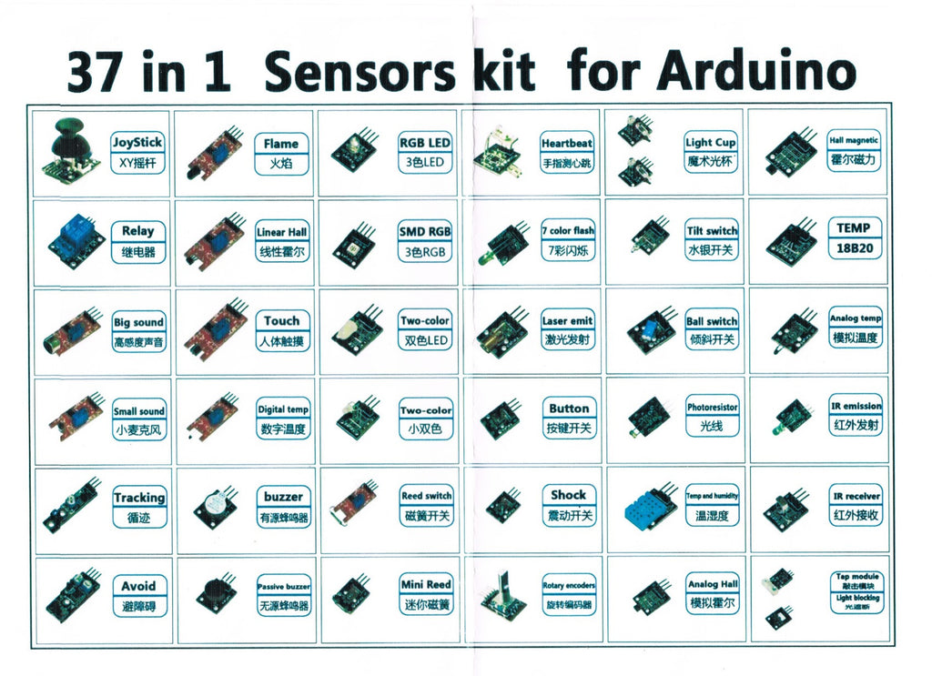 Arduino Sensor Kit: 37 Sensor Assortment