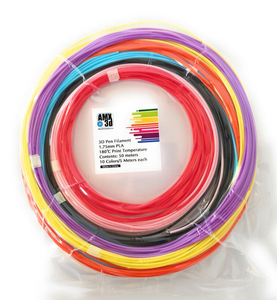 AMX3d 10 Color 3d Pen Filament Assortment