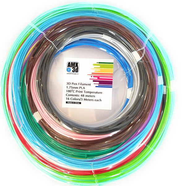AMX3d 16 Color 3d Pen Filament Assortment
