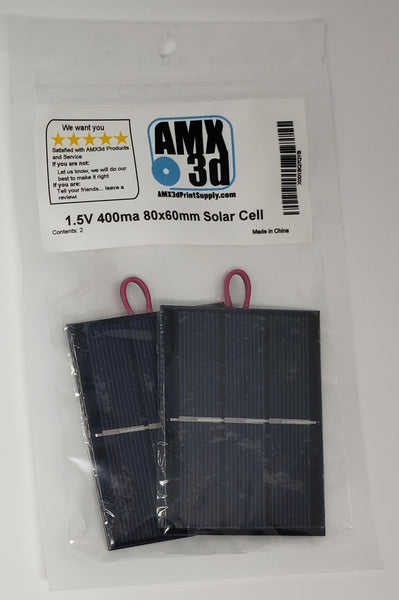 AMX Solar 80x60mm 1.5V Working Current: 400mA