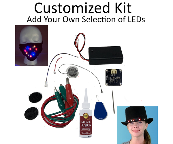 Jewel Series DIY Light Up Mask & Clothing Customizable Kit - Add LEDs of Your Choice