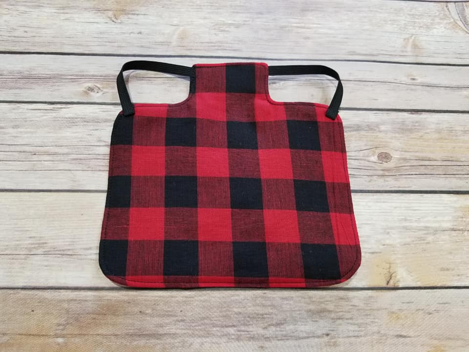 Red Buffalo Plaid Chicken Saddle/Hen Apron
