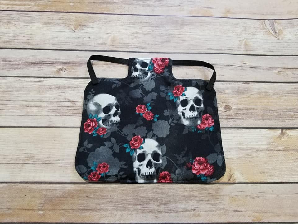 Skulls and Roses Chicken Saddle/Hen Apron