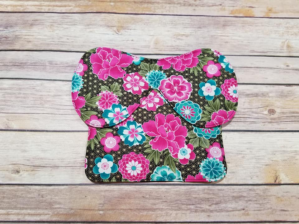 Pink and Teal Flowers Butterfly Chicken Saddle/Hen Apron