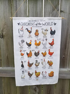Chickens of the World Wall Banner