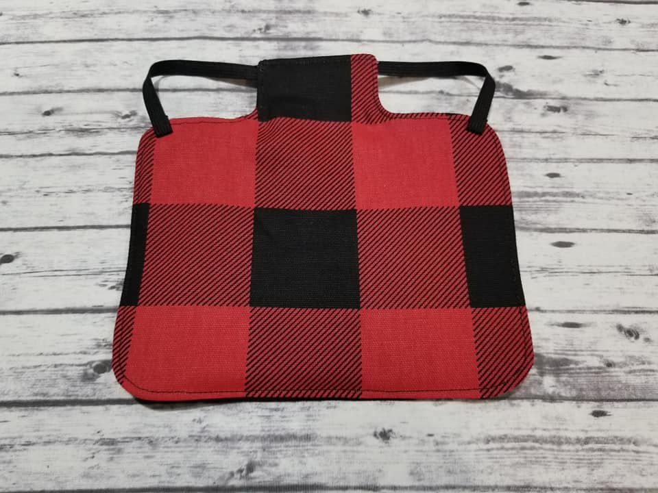 Red Buffalo Plaid Print Heavy Duty Chicken Saddle/Hen Apron