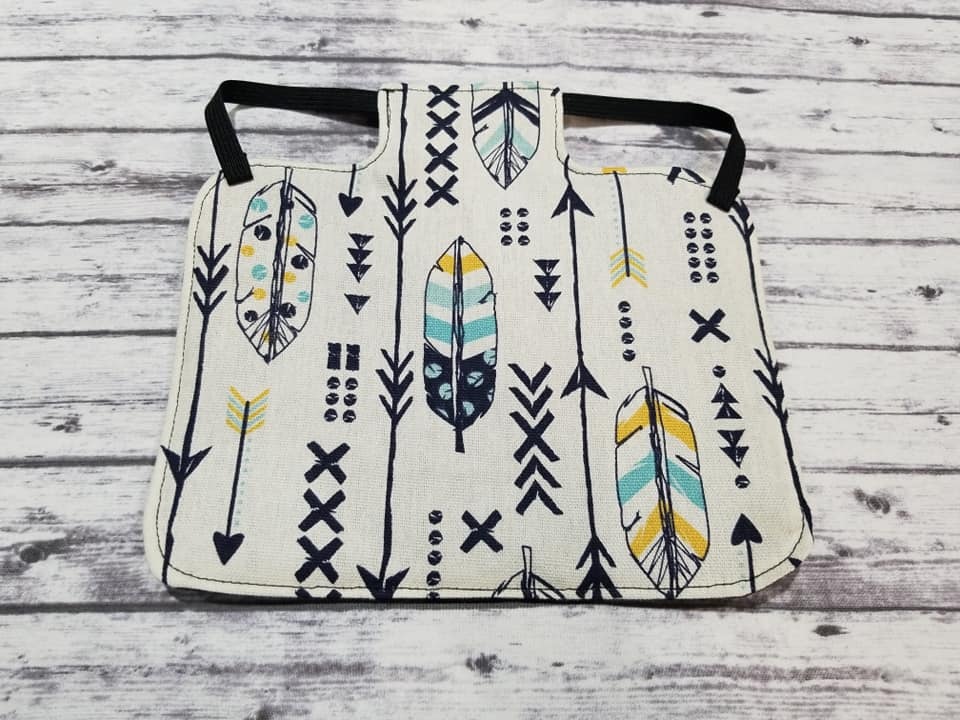 Tribal Feathers Print Heavy Duty Chicken Saddle/Hen Apron