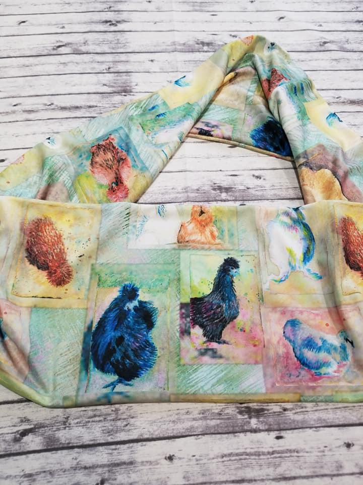 Silkie Chicken themed Infinity Scarf