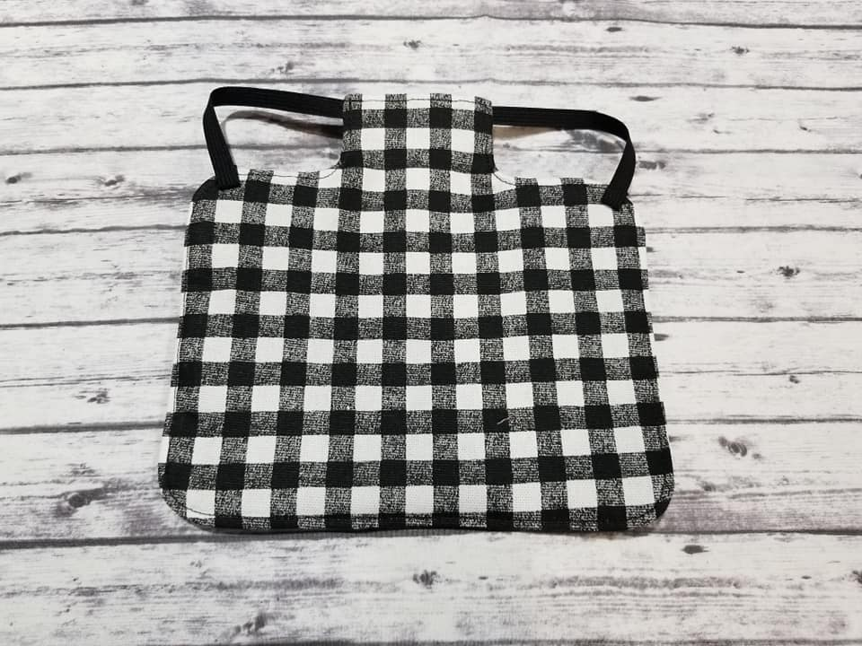 White Buffalo Plaid Print Heavy Duty Chicken Saddle/Hen Apron