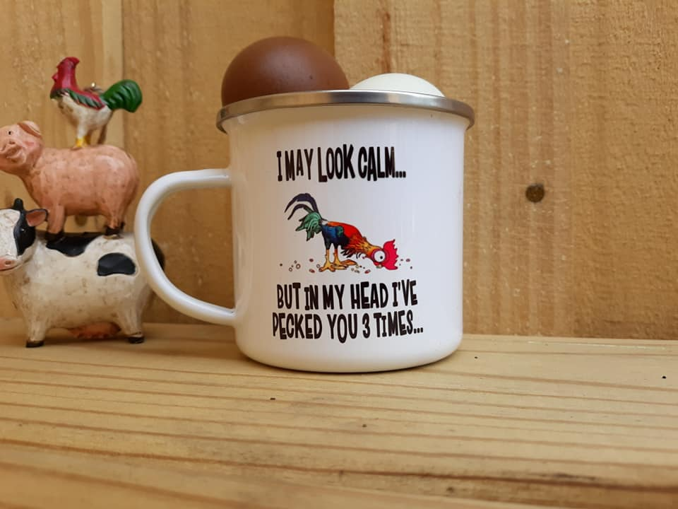 I May Look Calm Camp Mug