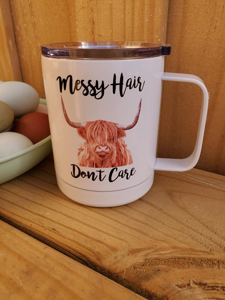 Messy Hair Don't Care Insulated Mug