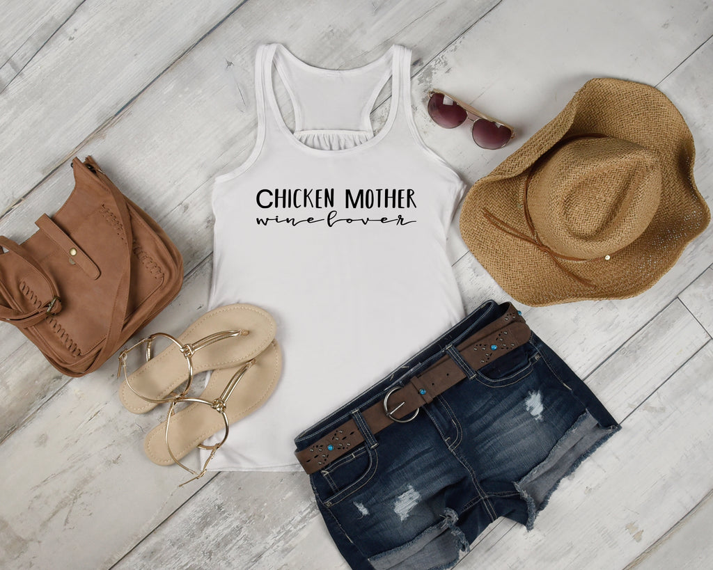 Chicken Mother Wine Lover Tank Top