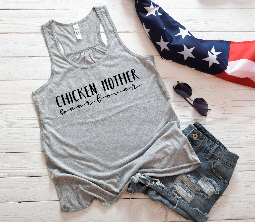 Chicken Mother Beer Lover Tank Top