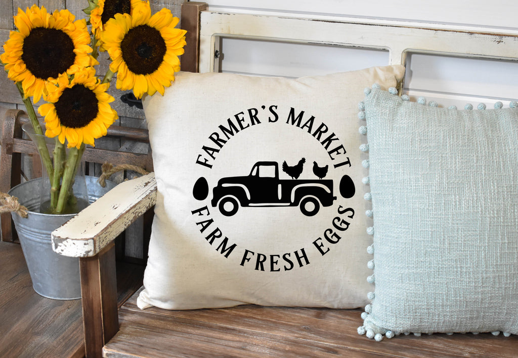Farmers Market Throw Pillow