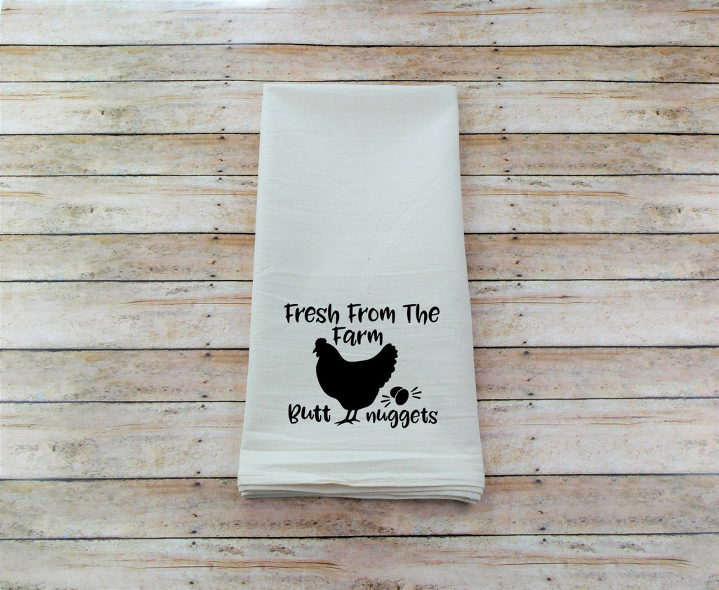 Farm Fresh Butt Nuggets Tea Towel