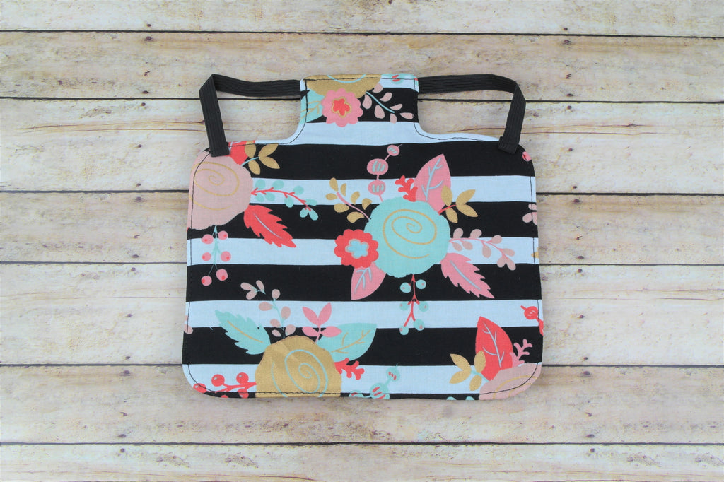 Floral Stripe Chicken Saddle/Hen Apron