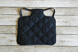 Black Quatrefoil Chicken Saddle/Hen Apron