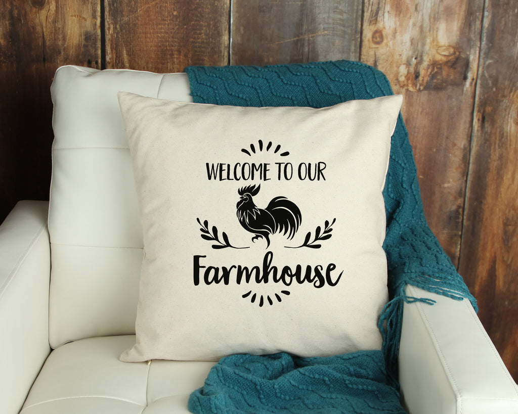 Welcome to our Farmhouse Throw Pillow