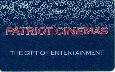 $25.00 Patriot Cinemas Gift Card