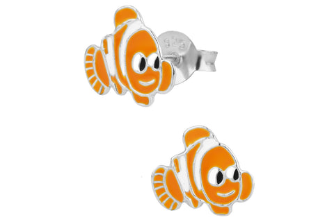 Sterling Silver Nemo Stud Earrings