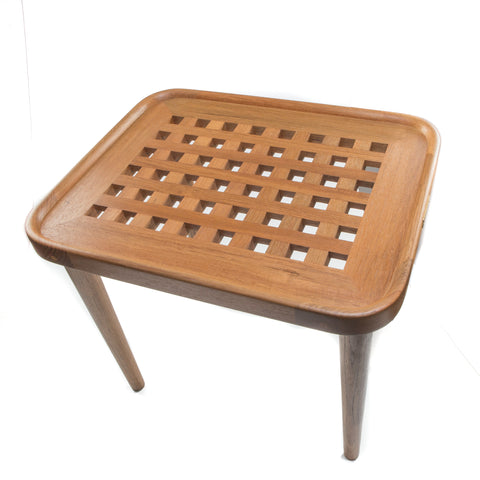 Whitecap Teak Grate Side Table