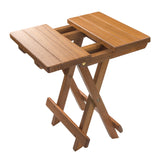 60034 - Grooved Top Fold-Away Table/Stool