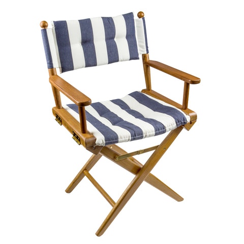 61040 - Director's Chair with Deluxe Cushions - Navy/White Stripe