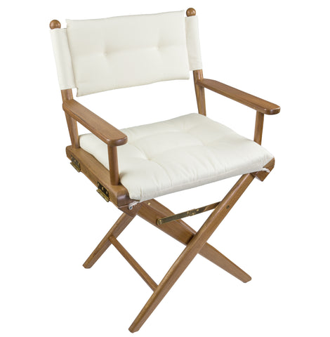 61043 - Director's Chair with Deluxe Cushions - Creme