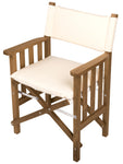 61053 - Director's Chair II with Deluxe Cushions-Creme