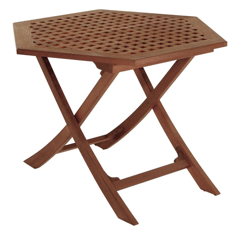 Whitecap Teak Hexagonal Folding Table