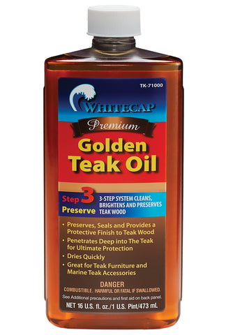 Whitecap Golden Teak Oil