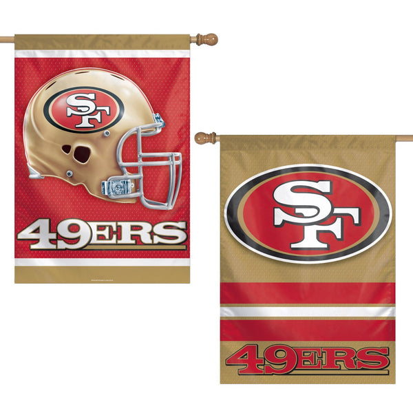 NFL San Francisco 49ers Two Sided Vertical Banner, 28 x 40-Inch