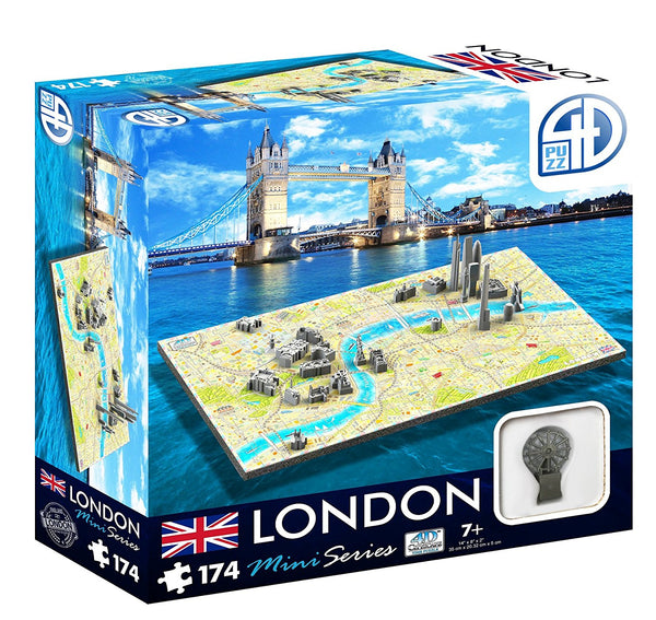 4D Cityscape Mini Puzzle (174 Piece), London