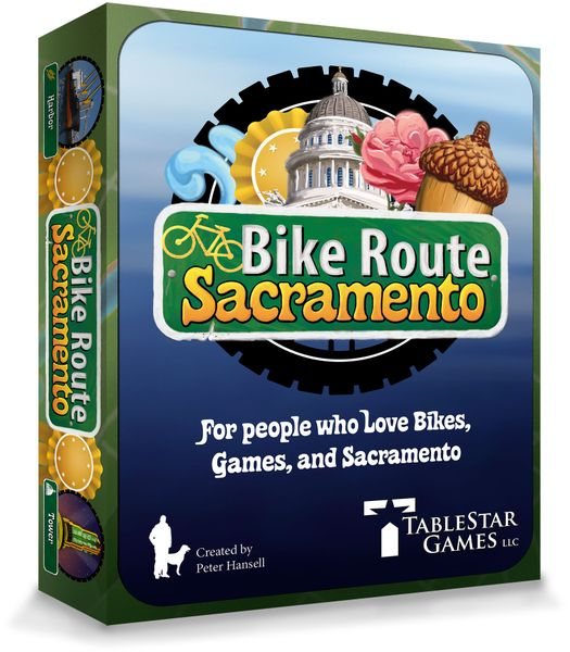 Bike Route Sacramento Board Game