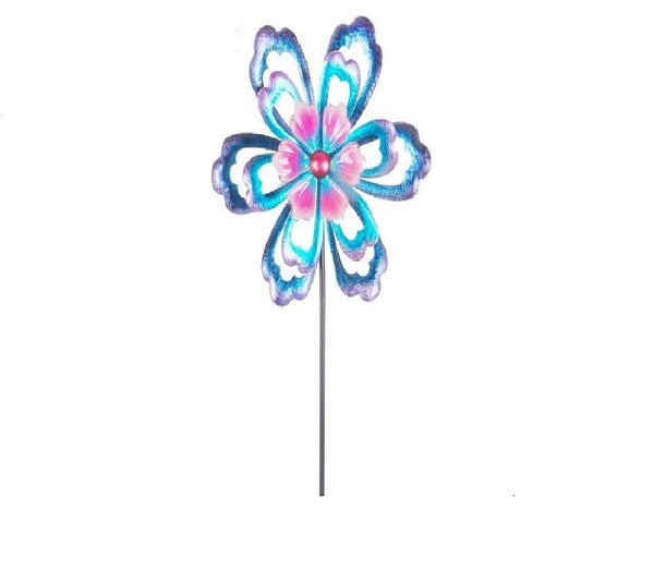 Continental Art Center - Kinetic Garden Spinner Stake - Five Petal Flower