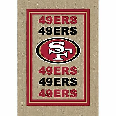 NFL San Francisco 49ers Burlap Flag