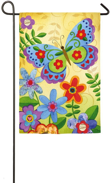 Beautiful Butterfly Garden Flag