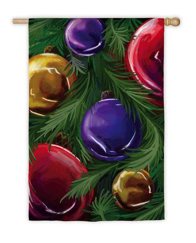 Evergreen - Christmas Ornaments Flag