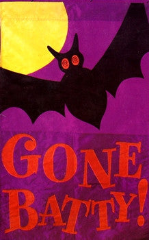"""Gone Batty"" Halloween Flag"