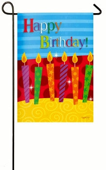 Happy Birthday Candles Garden Flag