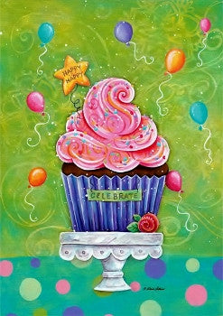 Happy Cupcake Garden Flag