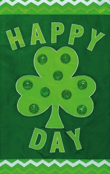 Happy Shamrock Day Flag