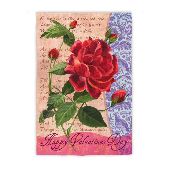 Valentine's Day Rose Garden Flag