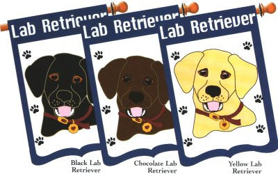 Lab Retriever Dog Breed Flag