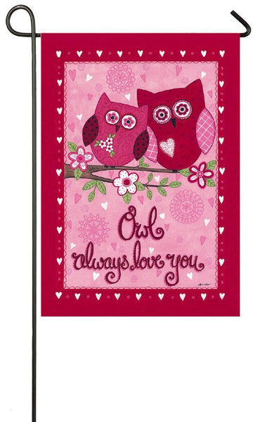 "Evergreen ""Owl Always Love You"" Valentine's Day Garden Flag"