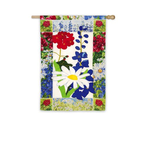 Patriotic Summer Floral Flag