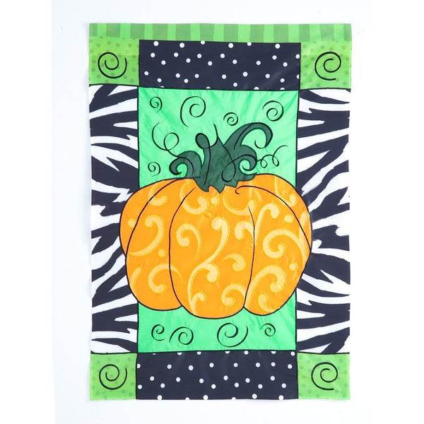 Evergreen - Pumpkin Whimsy Flag